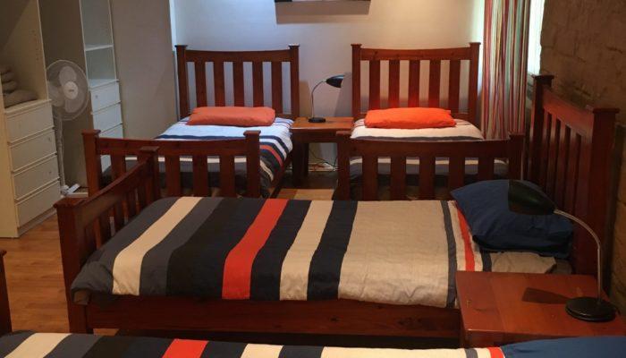 Bedroom 3, 5 x single beds